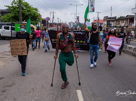 Man Who Was Given A Free Prosthetic Leg During The EndSARS Protest Wants To Sell The Leg. See Chats.