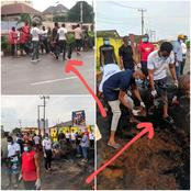 Here's What Anambra Protesters were Seen Doing Today