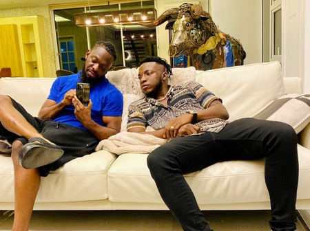 Check out photos of the interior of Timaya's house, and the crafted bull that is in his house