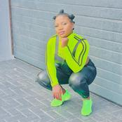 Makhadzi causing frenzy on social media with her sneakers looking beautiful.