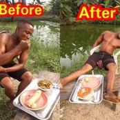 How this man ended up after eating this strange food