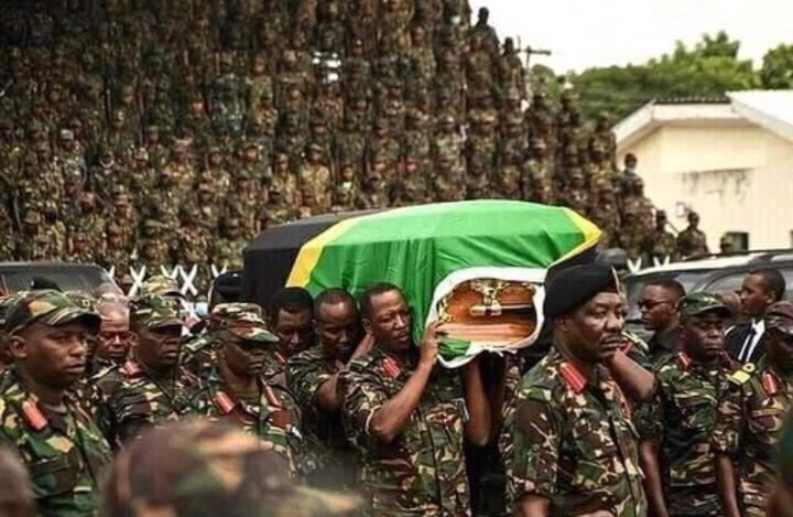 2cbb69cafbcd4df3905261cf4835c844?quality=uhq&resize=720 - Sad Moment: Tears Flow As President John Magufuli's body Is Being Carried To Church - Sad Scenes