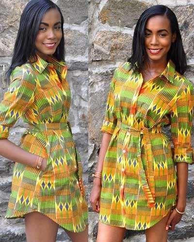 Heat friendly Ankara Short Gowns for you