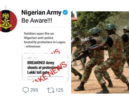 """Be Aware""- Nigerian Army sends a Vital Message to Nigerians about the Lekki Toll Gate Massacre"