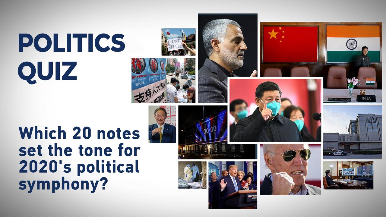 Politics quiz: 20 questions for the political events of 2020