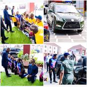 Reactions As People Knelt To Greet Apostle Suleman As He Was Escorted By Army Vehicle Into Onitsha