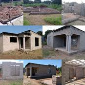 A man from Limpopo shows the simple house he built after being motivated by the group
