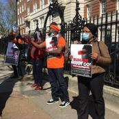 Anti-Buhari Protester Pays Tribute to Ramadan, Leaves Buhari to Observe His Fasting in Peace