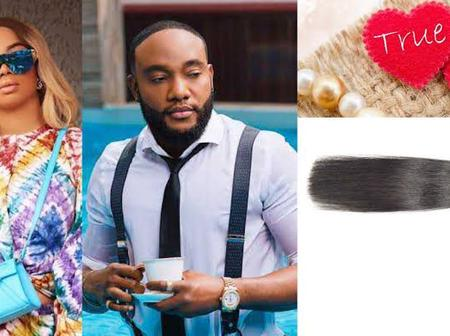 See This Epic Conversation Between Toke Makinwa and singer Kcee about Bone straight hair