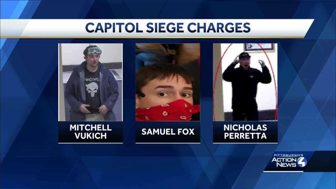 3 western Pa. men charged in connection with U.S. Capitol riot