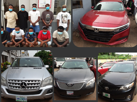 Check Out The Exotic Cars EFCC Recovered From 10 Suspected Internet Fraudsters In Akure