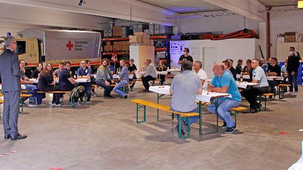 BRK Bayreuth lud Ehrenamtliche als Dank für ihren Einsatz in Rheinland-Pfalz zu einem Helferessen ein