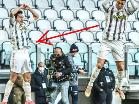 Ronaldo Didn't Celebrate Alone. See What This Juventus Player Did After Providing An Assist For CR7.