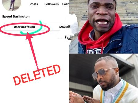 Instagram Deletes Speed Darlington's Account Hour After He Brags That He Wants To School Tunde Ednut