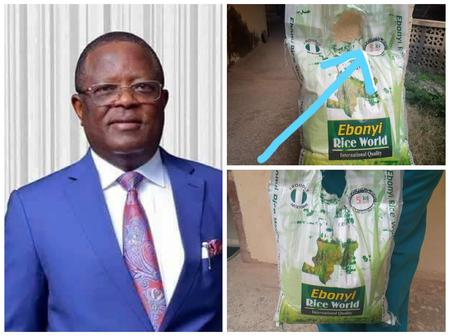 EBSU Lecturer complain bitterly as he shared the bag of rice Gov. David Umahi gave them as Xmas gift