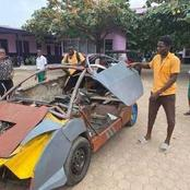 Meet Kelvin Odartei, Young African That Built His Own Car At 14 Years Old