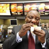 Unseen Photos of Ramaphosa Eating & Having Fun at His Own McDonald's Store