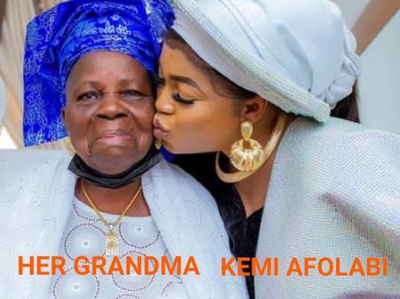 Yoruba Actress, Kemi Afolabi Adesipe Appreciates God For Granting Her Grandmother Long Life