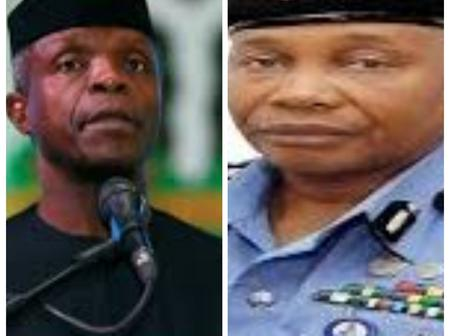Your appointment won't result in retiring senior police officers, Osinbajo assures new IGP