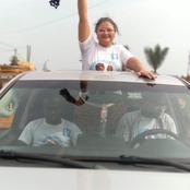 Son mari candidat est en prison : voici les images de campagne de Mme Alain Lobognon à Fresco