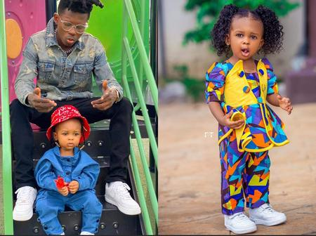 Strongman is a Proud Father: Simona Osei Proves She is the Most Beautiful Celebrity Kid in the Count