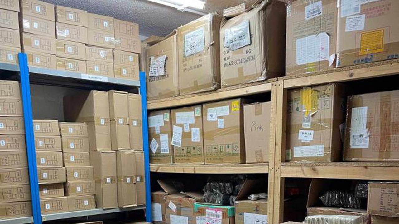 Police seize £15 million haul of fake designer goods
