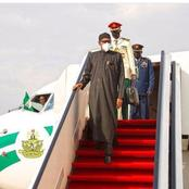 President of Nigeria Muhammadu Buhari Returns From UK after about 2 weeks away for Medical Attention