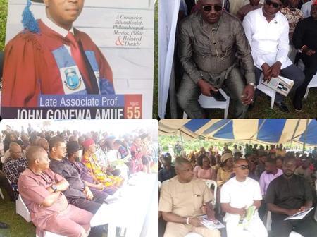 Senator Lee Maeba, Hon Dum Dekor, Hon Fred Kpakol And Other PDP Members Attends Burial in Rivers