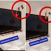 See the daredevil stunt an EndSARS protester was caught doing somewhere in Owerri