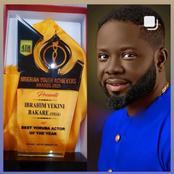 Yoruba Actor Ibrahim Yekini Wins Best Yoruba Actor Of The Year, 2021 Award.