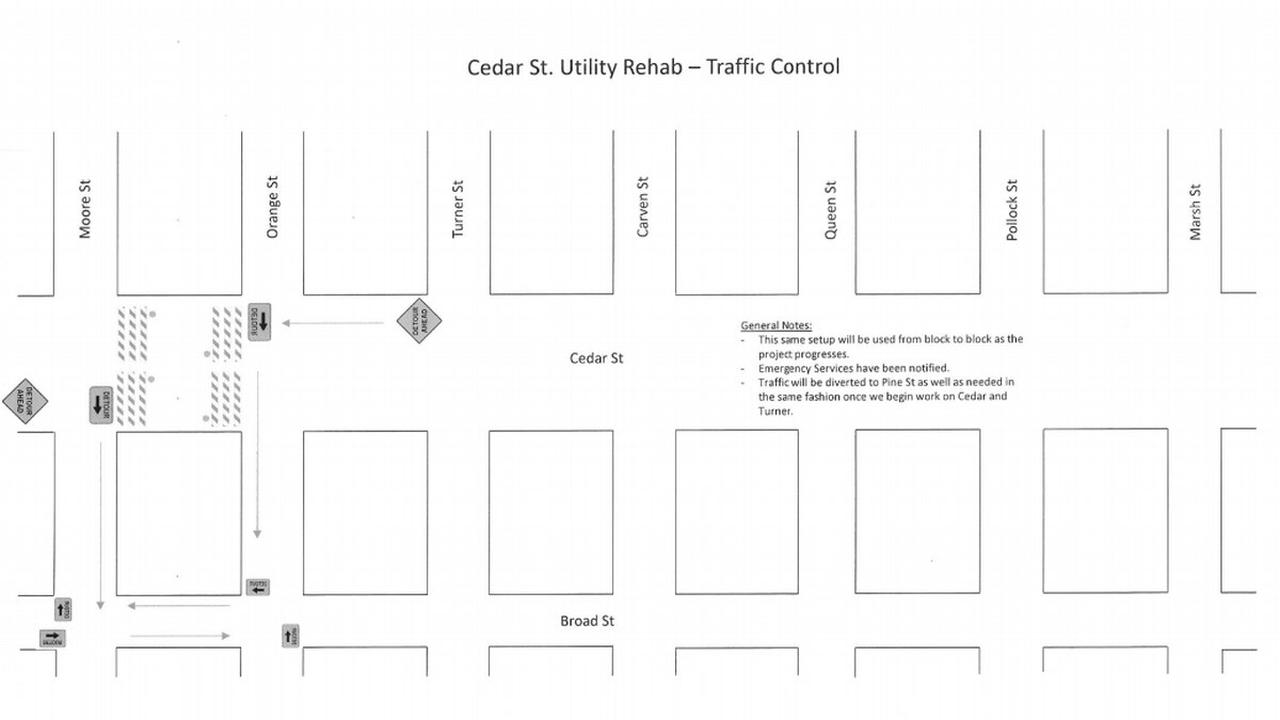 Beaufort announces street closures for 4-month rehabilitation project
