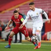 Check Out The Record Of Federico Valverde In Madrid's Goalless Draw Against Liverpool