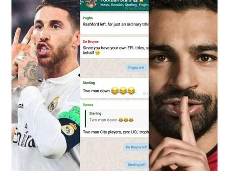 Check Out The Conversation in a WhatsApp Group a Fan Created That Has Ramos, Sallah and Others in it