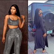 Mercy Eke Flaunts Her Brand New G-Wagon Mercedes (Video)