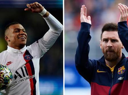 See What Messi Said About Mbappe After Barcelona Lost To PSG