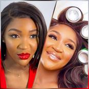 Reaction as Nigerian actress, Idia Aisien slays in short gown