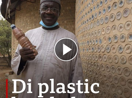 Video: Reactions As Nigerian Man Showcases His House Built With Plastic Bottles