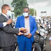 Constructions anarchiques : le ministre Bruno Koné dote la brigade d'investigation de motos
