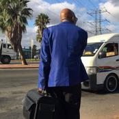 Mzwandile Masina Causes A Stir After Posting This Man Who Looks Like Jacob Zuma Hitch-Hiking