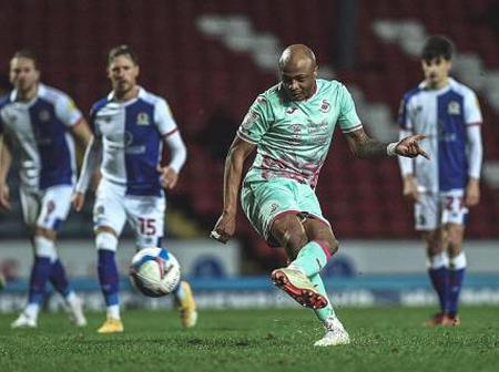 Ghana forward Andre Ayew scores in fourth consecutive game to earn draw for Swansea City