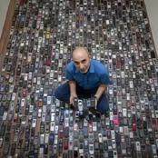 After 20 Years Of Collecting Phones, See How Many Phones This Man Has Now (Photos)