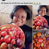 See The Amount Of Peppers And Onions A Lady Claims She Bought For N100 That Got People Talking