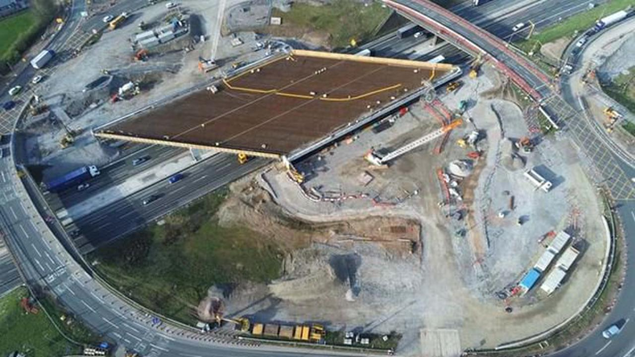 M6 and A556 to close as work on new junction 19 bridge continues