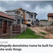 Mzansi Was Left Divided By This Post| Man Allegedly Demolishes Home He Built For His Girlfriend