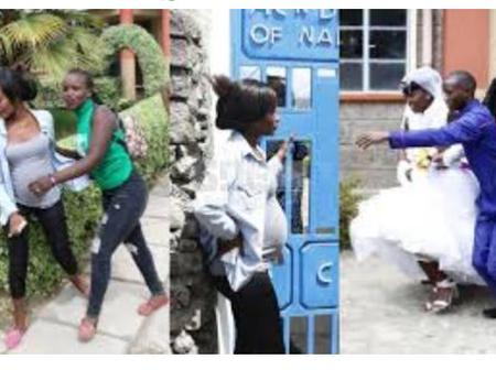 Moment of Chaos as Pregnant Lady Brings a Wedding Ceremony to a Standstill in Migori