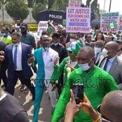 Despite Hoodlums Attack: Abuja Protest Gained momentum as Pastor Paul Enenche leads from the Front