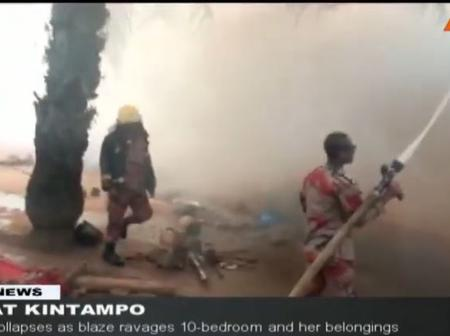 Very Sad News: UDS Female Student Collapses In Kintampo Due Fire Outbreak At Her House