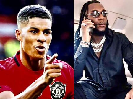 Manchester United Striker, Rashford Declares Burna Boy As His Favorite Afrobeat Singer