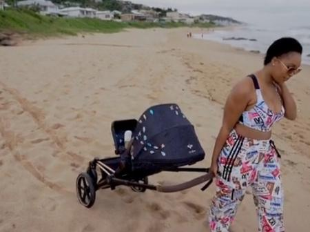 Minnie Dlamini's son's stroller causes a frenzy with her fans.