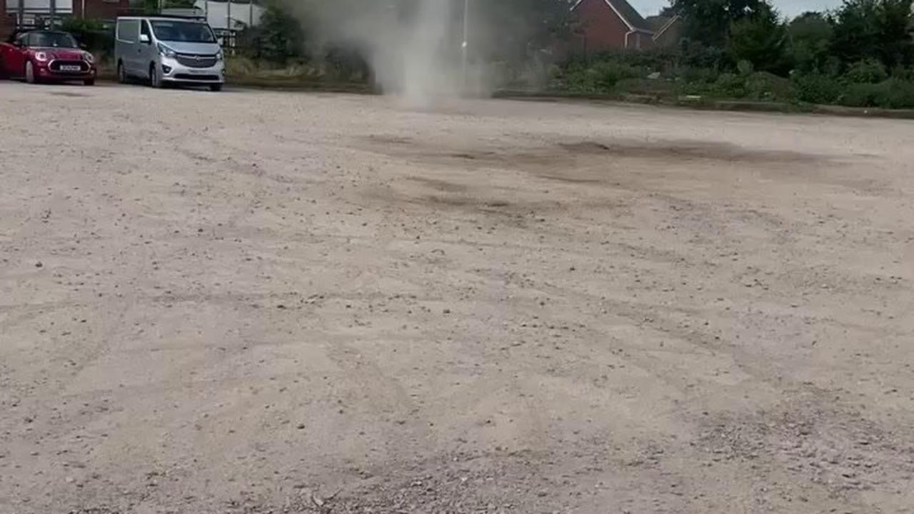 Mini-tornado in Nantwich caught on video